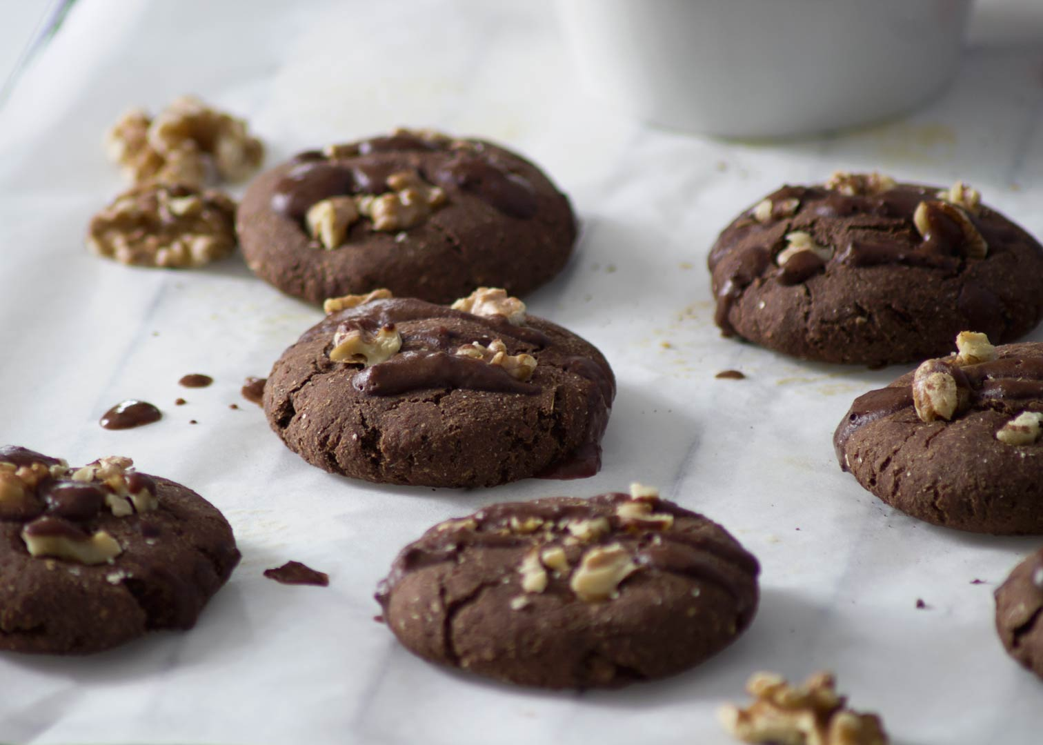 Brownie Cookies (sugar and oil free)