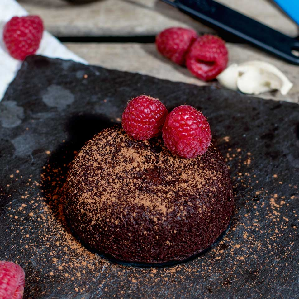 how to make a vegan chocolate coulant